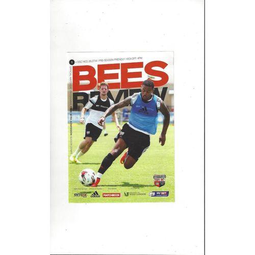 Brentford v Nice Friendly Football Programme 2014/15