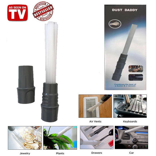 Dust Daddy Brush Cleaner Universal Vacuum Attachment