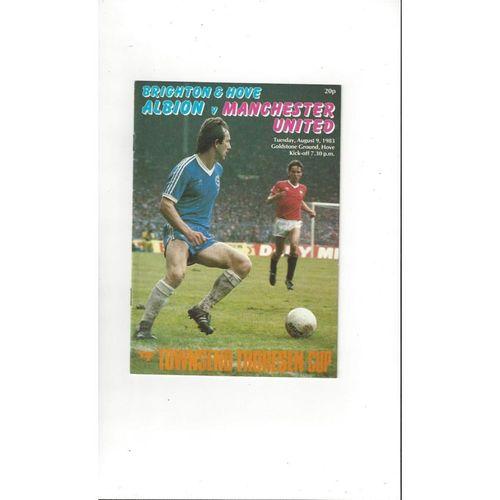 Brighton v Manchester United Friendly Football Programme 1983/84