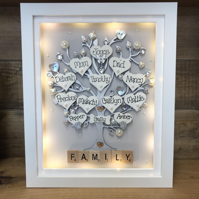 Large family tree frame | Crafty Monkey | Personalised Golden ...