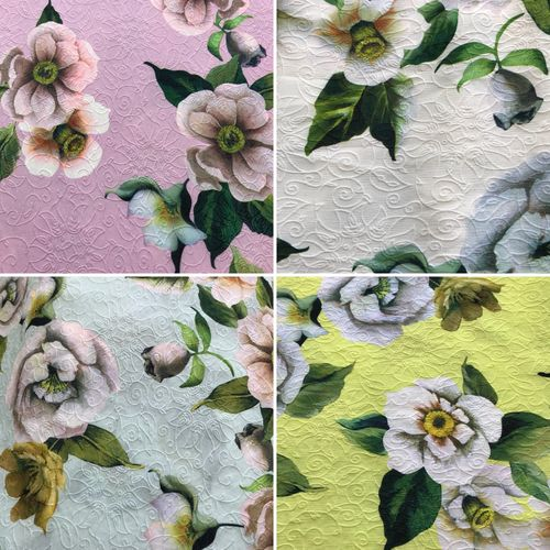Floral Spring Aqua Polyester