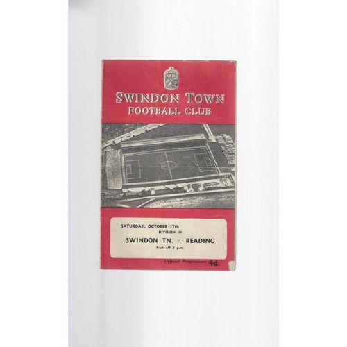 1959/60 Swindon Town v Reading Football Programme