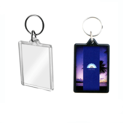 Large Rectangular Acrylic Plastic Keyrings