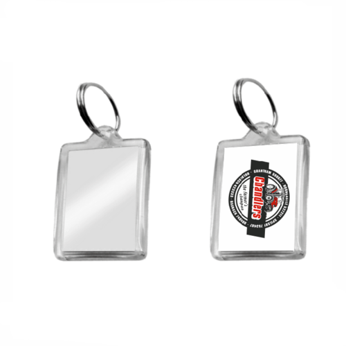 Small Rectangular Acrylic Plastic Keyrings