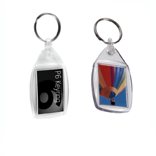 Small Acrylic Plastic Keyrings