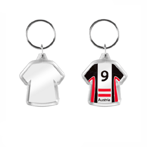Small Shirt-shaped Acrylic Plastic Keyrings