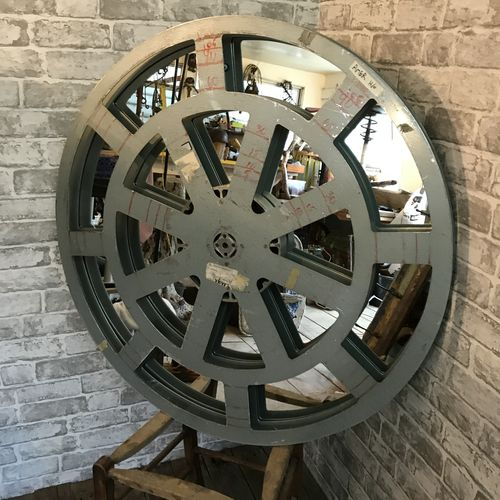 Very Large Film Reel Upcycled Mirror
