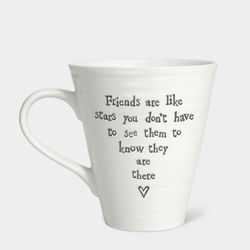 East Of India Boxed Porcelain mug - Friend are Stars