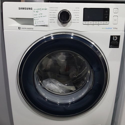 SAMSUNG ecobubble WW90J5456FW/EU 9 kg Washing Machine - White