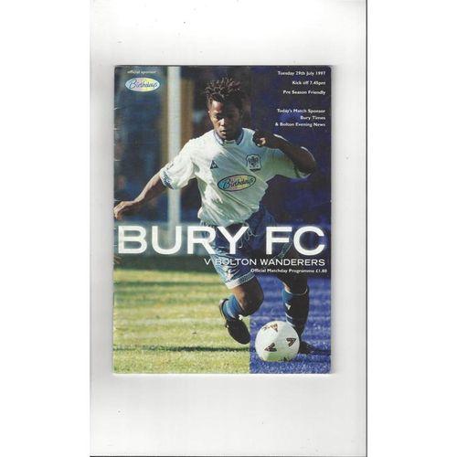 Bury v Bolton Wanderers Friendly Football Programme 1997/98
