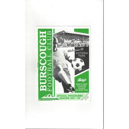 Burscough v Morecambe Friendly Football Programme 1991/92