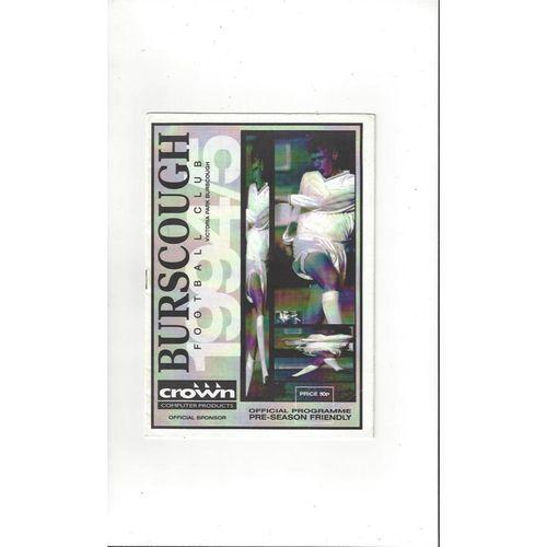 Burscough v Preston Friendly Football Programme 1994/95