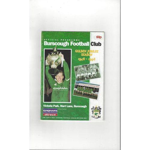 Burscough v Southport Friendly Football Programme 1996/97