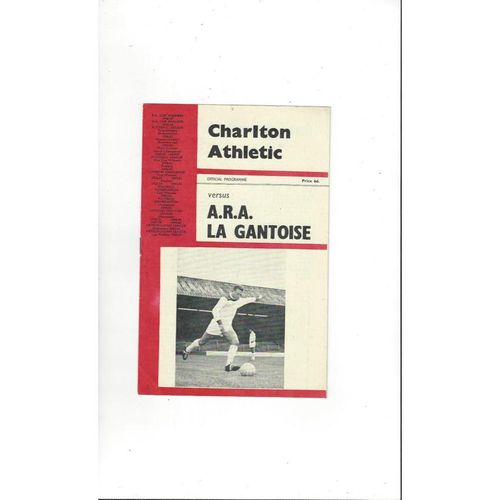 Charlton Athletic v Gantoise Friendly Football Programme 1965/66