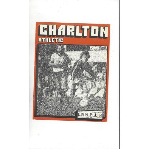 Charlton Athletic v Hvidovre Friendly Football Programme 1979/80