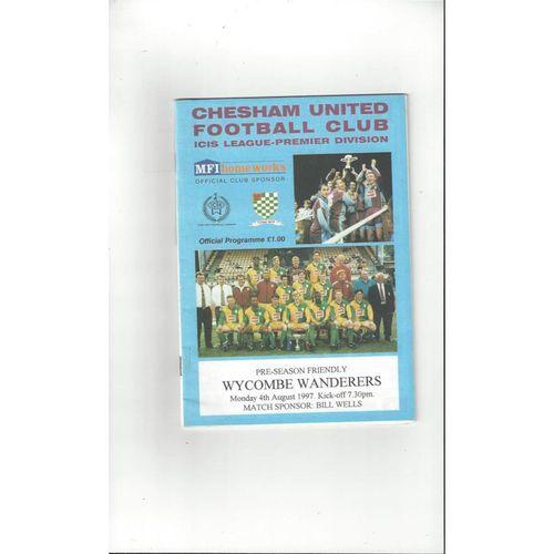 Chesham United v Wycombe Wanderers Friendly Football Programme 1997/98