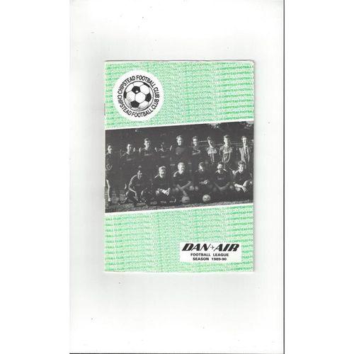 Chipstead v Walford Boys Club Friendly Football Programme 1989/90