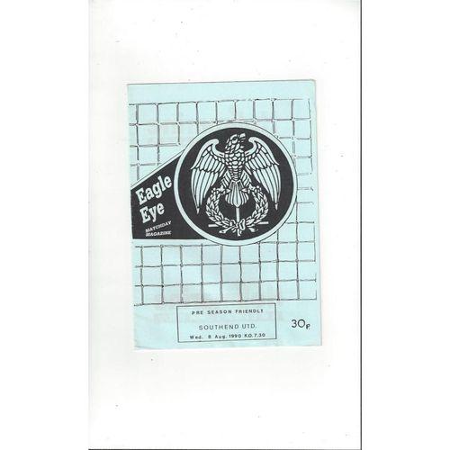 Colchester United v Southend United Friendly Football Programme 1990/91