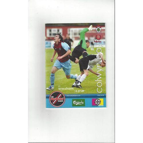 Colwyn Bay v Wrexham Friendly Football Programme 2009/10
