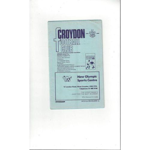 Croydon v Gravesend & Northfleet Friendly Football Programme 1978/79