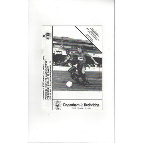 Dagenham v Colchester United & Southend United Friendly Double Programme 1993/94