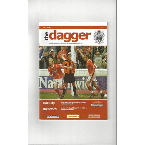 Dagenham v Hull City & Brentford Friendly Double Programme 2005/06