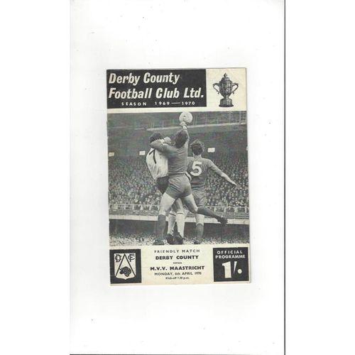 Derby County v Maastricht Friendly Football Programme 1969/70