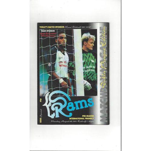 Derby County v Dukla Prague Friendly Football Programme 1993/94