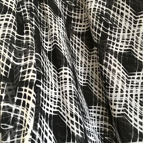 Monochrome Black Chiffon