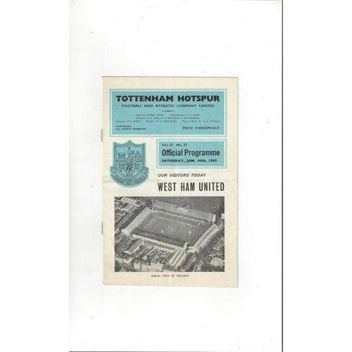Tottenham Hotspur Homes Football Programmes