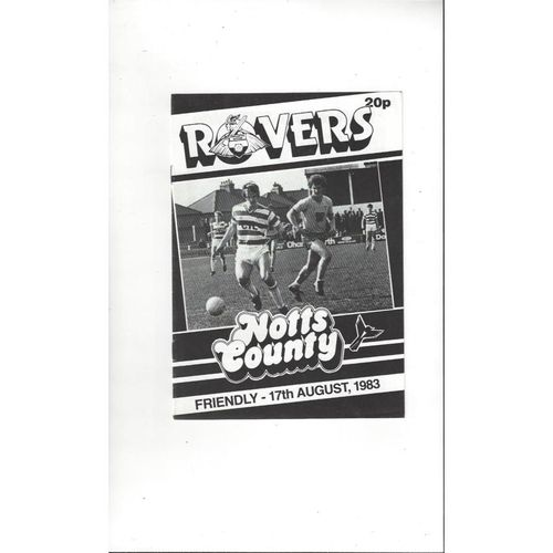 Doncaster Rovers v Notts County Friendly Football Programme 1983/84