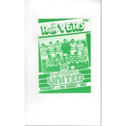 Doncaster Rovers v Scunthorpe United Friendly Football Programme 1983/84