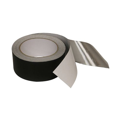 Black 30 Micron Aluminium Foil Tape with Solvent Acrylic Adhesive