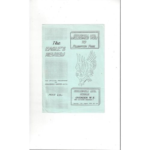Eccleshill United v Ovenden W.R. Friendly Football Programme 1994/95