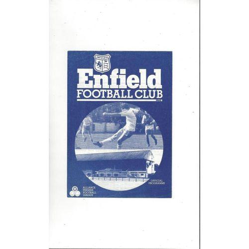 Enfield v Royden Sports Friendly Football Programme 1982/83