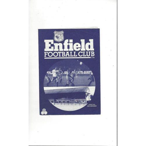 Enfield v Dulwich Hamlet Friendly Football Programme 1985/86