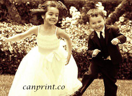 Wedding photo on canvas.