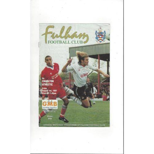 Fulham v Charlton Athletic Friendly Football Programme 1997/98