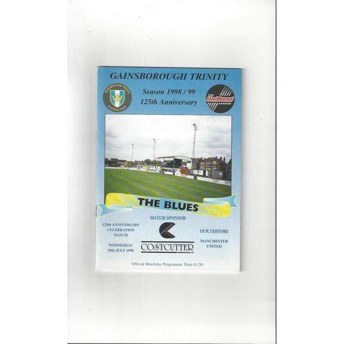 Gainsborough Trinity v Manchester United Friendly Football Programme 1998/99