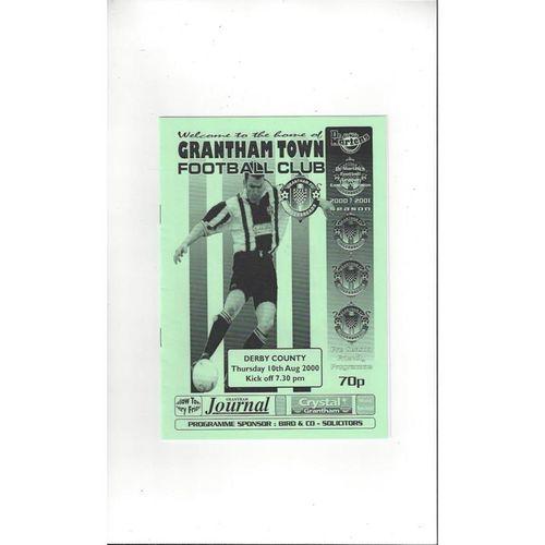 Grantham v Derby County Friendly Football Programme 2000/01