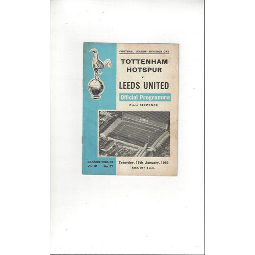 1968/69 Tottenham Hotspur v Leeds United Football Programme