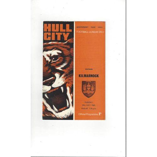 Hull City v Kilmarnock Friendly Football Programme 1969/70