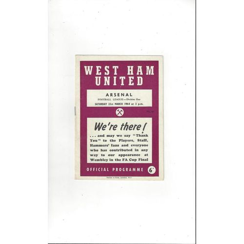 West Ham United Home Football Programmes