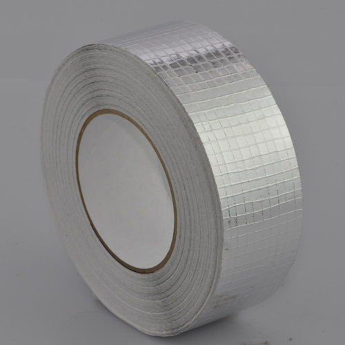 Narrow Grid 12.5mm x 12.5mm Reinforced Aluminium Foil Tape with Solvent Acrylic Adhesive