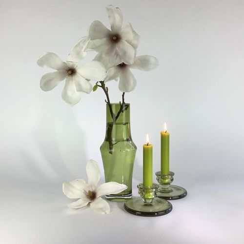 Olive green glass vase by Tamara Aladin 1960s
