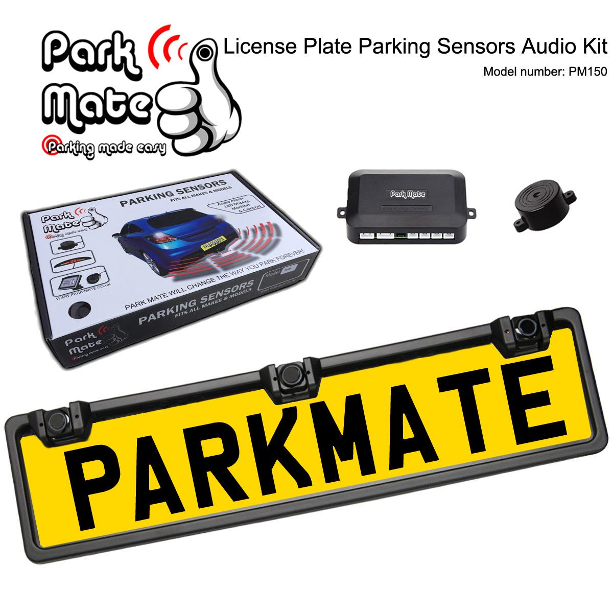 License Plate Rear Parking Sensors Audio Park Mate Pm150 Park Mate