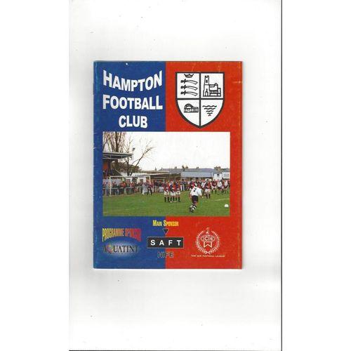 Hampton v Brentford Friendly Football Programme 1998/99