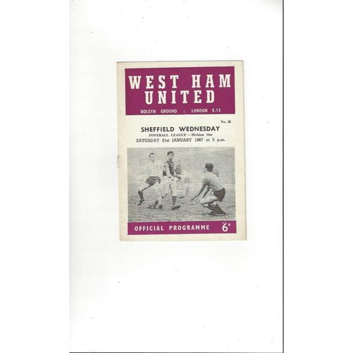 West Ham United Home Football Programmes