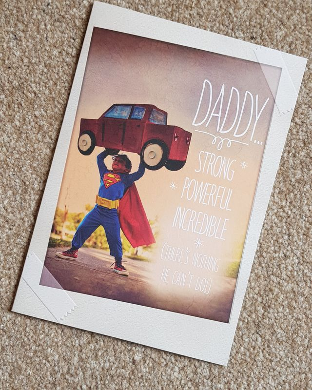 Happy Birthday Dad Super Hero Card Remember That Card Greeting