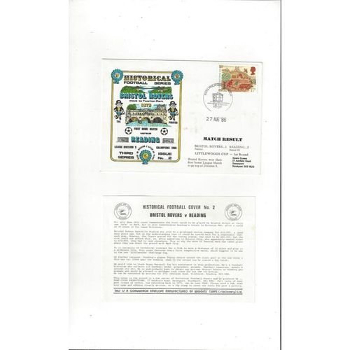 Bristol Rovers v Reading Littlewoods Cup First Day Cover 1986